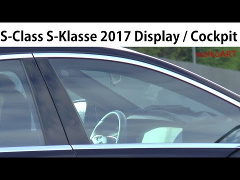 Mercedes Erlkönig Facelift S-Class S-Klasse 2017 W222 Display / Cockpit interior - innen