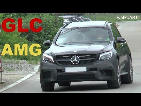 Erlkönig Mercedes-AMG GLC 63 2017 prototype spotted on the road - SPY VIDEO