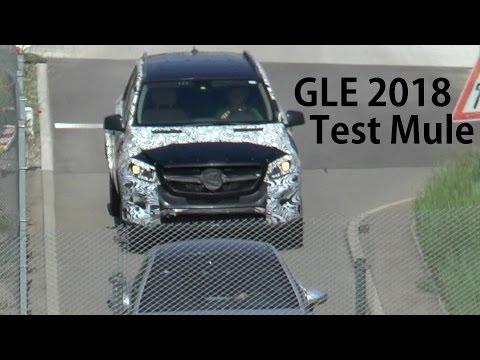 Mercedes Erlkönig Muletto Mercedes-Benz GLE 2018 Test car MULE prototype SPY VIDEO
