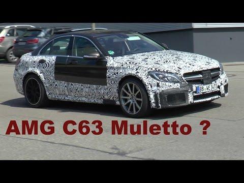 Erlkönig Mercedes-AMG C63 Muletto? Verschärfte W205 AMG Version. A strengthened AMG version.