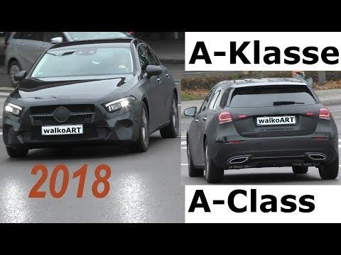 Mercedes Erlkönig A-Klasse 2018 wenig getarnt A-Class W177 less camouflaged 4K SPY VIDEO