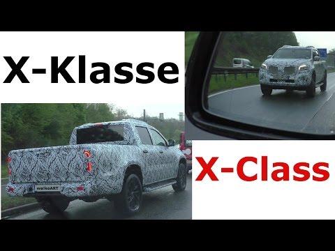 Mercedes Erlkönig X-Class X-Klasse Verfolgung - prototype car chase - SPY VIDEO