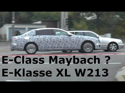 Erlkönig Mercedes-Maybach E-Klasse verlängert prototype E-Class Maybach XL 2017 spotted W213 2016