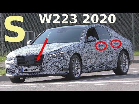Mercedes Erlkönig S -Klasse S-Class W223 2020 Türgriffe + Grill - Door handles and grill SPY VIDEO