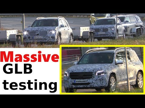 Mercedes Erlkönig massive GLB testing - verstärkte Testfahrten GLB 2019 - 4K SPY VIDEO