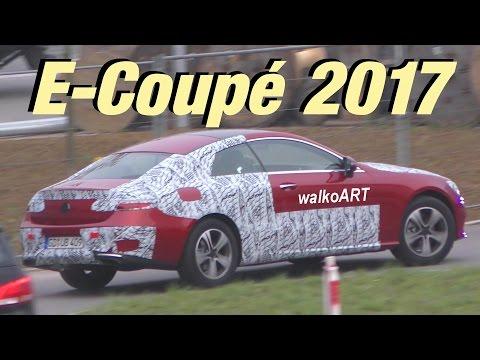 Mercedes Erlkönig E-Kasse Coupé wenig getarnt E-Class Coupé C238 2017 less camouflaged 4K-SPY VIDEO