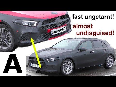 Mercedes Erlkönig hAppy new yeAr * A-Klasse fast ungetarnt A-Class bumper almost undisguised 4K