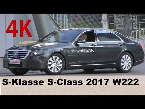 4K-Video Mercedes Erlkönig S-Klasse S-Class 2017 W222 Facelift - Modellpflege