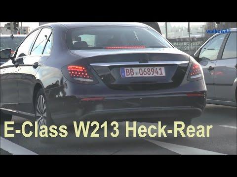 Mercedes Erlkönig W213 E-Class prototype 2017 E-Klasse 2016, das geheime HECK -the secret REAR