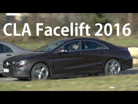 Mercedes Erlkönig CLA C117 Facelift 2016 spotted on the road - auf der Straße SPY VIDEO