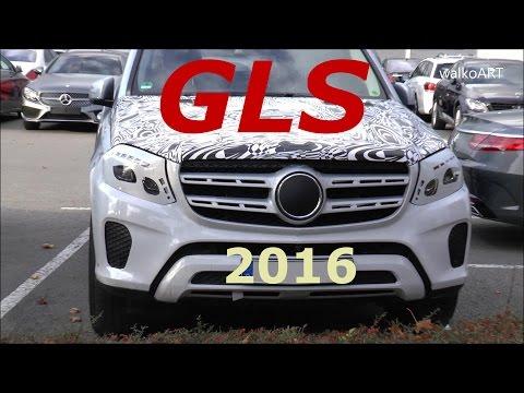 Mercedes Erlkönig GLS ungetarnte Front Mercedes Prototype 2016 Facelift GL-GLS X166 2017 SPY VIDEO