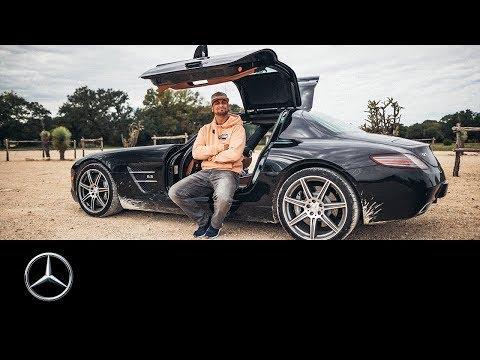 JP Kraemer unterwegs im SLS AMG: Der Sportwagen mit den Flügeltüren