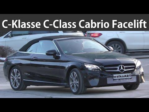 Mercedes Erlkönig C-Klasse C-Class Cabrio Facelift A205 2018 Modellpflege - 4K SPY VIDEO