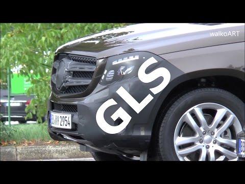 Erlkönig Mercedes GLS (Facelift GL) 2016 letzte Testfahrten GLS X166 prototype final tests SPY VIDEO