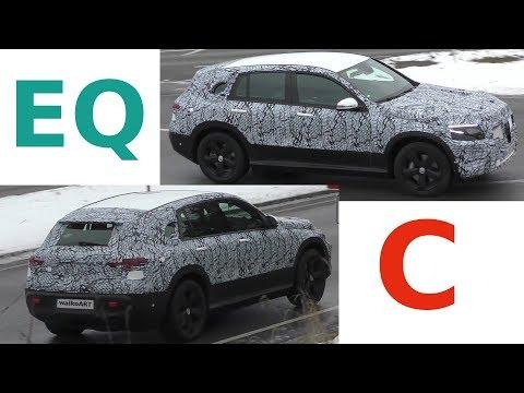Mercedes Erlkönig EQC 2019 Elektro-SUV im Straßenverkehr - EQC in traffic - 4K SPY VIDEO