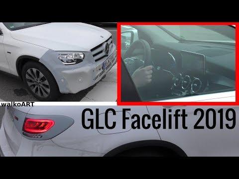Mercedes Erlkönig GLC Facelift X253 2019 MoPf - Details - Interior view - Cockpit Blick 4K SPY VIDEO