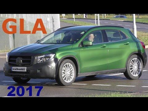 Mercedes Erlkönig GLA Facelift 2017 X156 wenig getarnt - GLA prototype less camouflaged 4K-SPY VIDEO