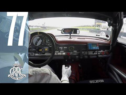 David Coulthard races Mercedes Gullwing at Goodwood 77MM
