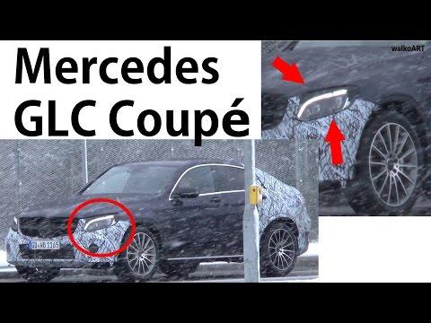 Mercedes Erlkönig GLC Coupé, ungetarnte Scheinwerfer prototype undisguised headlights SPY VIDEO