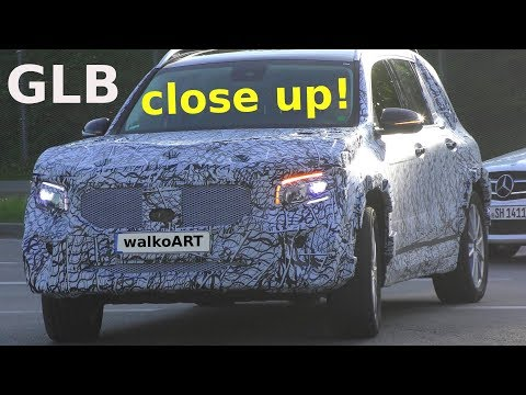 Mercedes Erlkönig GLB prototype close up! Details -Nahaufnahme 4K SPY VIDEO