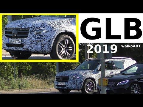 Mercedes Erlkönig GLB 2019 X247 weniger getarnt - prototype less camouflaged 4K SPY VIDEO