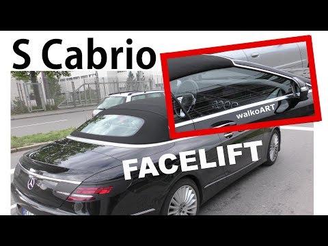 Mercedes Erlkönig S-Klasse S-Class Cabrio Facelift INTERIOR -INTERIEUR INNEN Mopf A217 4K SPY VIDEO