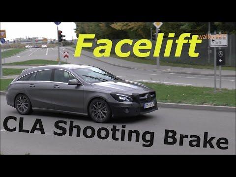 Mercedes Erlkönig Prototype CLA Shooting Brake 2016 Modelpflege Facelift X117 on the road SPY VIDEO