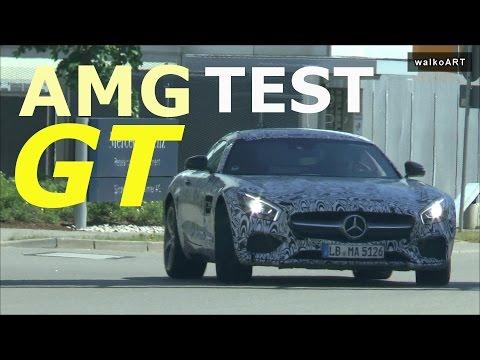 HOT ! Mercedes Erlkönig Testträger AMG GT Spy Video on the road -Supercar Test-prototype AMG GT