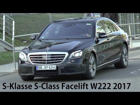 Mercedes Erlkönig S-Klasse W222 Mopf NEW S-Class Facelift 2017-2018 SPY VIDEO