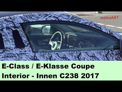 Mercedes Erlkönig E-Klasse Coupé 2017 E-Class Coupe Cockpit interior view C238 - innen