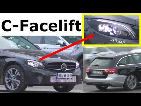 Mercedes Erlkönig C-Klasse C-Class Facelift 2018 prototype Estate 205 / T-Modell 4K-SPY VIDEO