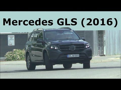 Mercedes -Benz GLS 2015 - 2016 (Mercedes GL Facelift) Erlkönige - Prototypes on the road SPY VIDEO