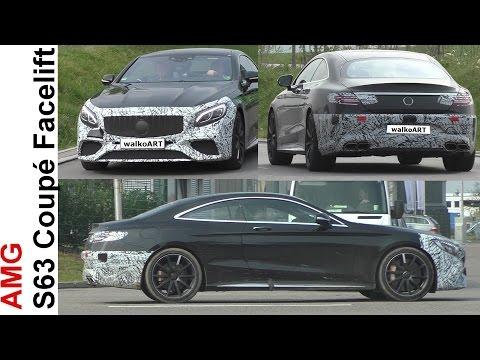 Mercedes Erlkönig Mercedes-AMG S63 Coupé Facelift prototype Modellpflege 2018 SPY VIDEO