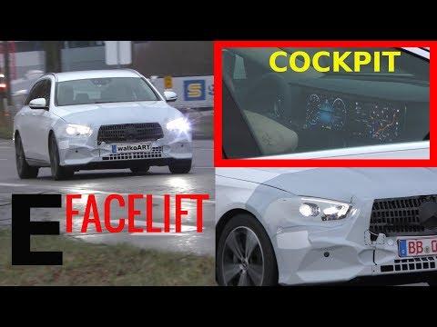 Mercedes Erlkönig E-Klasse E-Class Facelift 2020 MBUX? Cockpit Blick Display view S213- 4K SPY VIDEO