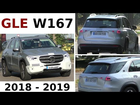Mercedes Erlkönig GLE 2018/ 2019 W167 fast ohne Tarnung - almost without camouflage 4K SPY VIDEO