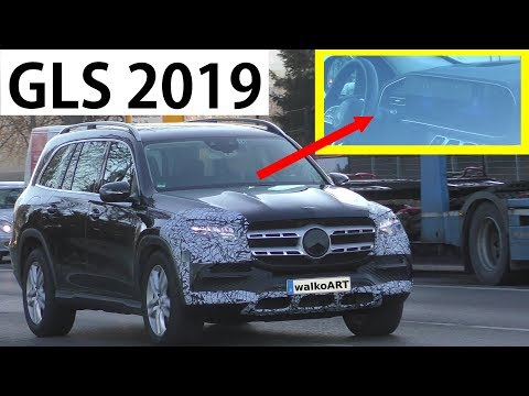 Mercedes Erlkönig GLS X167 wenig getarnt - less camouflaged - Exterior - Interior 4K SPY VIDEO