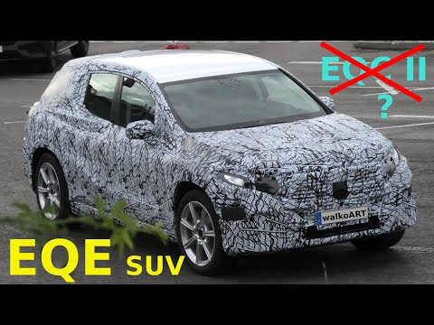 Mercedes Erlkönig EQE SUV X294 * EQC II prototype? Was ist das? What is it? 4K SPY VIDEO