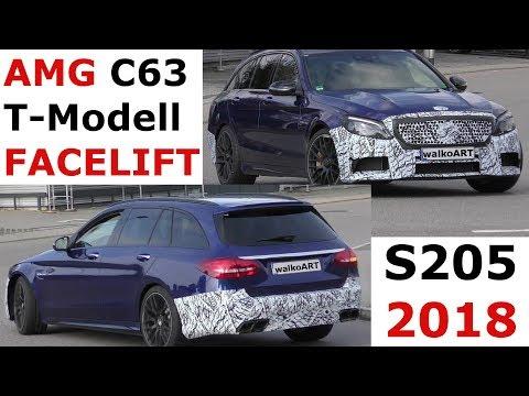 Mercedes Erlkönig Weltpremiere AMG C63 T-Modell 2018 S205 C-Class Facelift FIRST TIME -4K SPY VIDEO