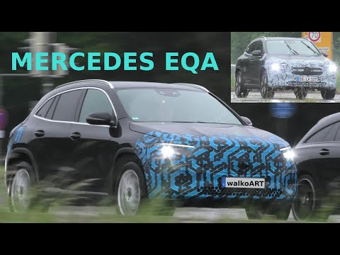 Mercedes Erlkönig EQA weniger getarnt - less camouflaged prototypes * 4K SPY VIDEO