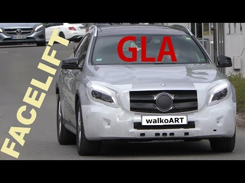 Mercedes Erlkönig GLA Modellpflege X156 2017 - GLA prototype Facelift - 4K SPY VIDEO