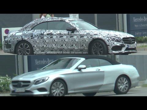 Mercedes Erlkönige- 2 Stoffdach- Soft Top-Cabrios: S-Klasse Cabrio & C-Klasse Cabrio 2016