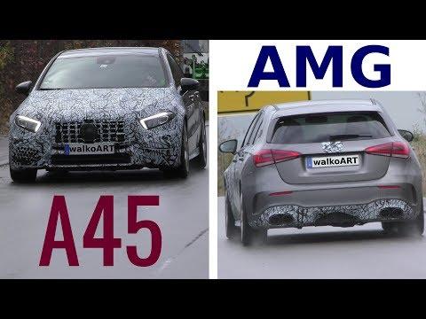 Mercedes Erlkönig AMG A45 4MATIC prototype 2019 W177 - 4K SPY VIDEO
