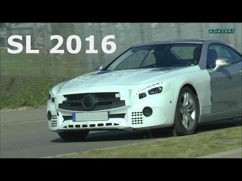 Erlkönig Prototype Mercedes SL Facelift 2016 R321 original sound Juli / July 2015 Spy Video