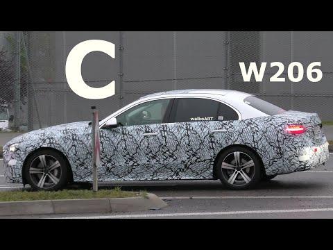 Mercedes Erlkönig white C-Class 2021prototype * C-Klasse W206 in weiß * 4K SPY VIDEO