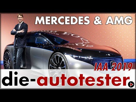 IAA 2019: Mercedes Vision EQS AMG Coupé EQV smart   Messe   Weltpremiere   Review   Deutsch