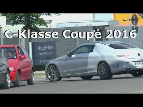 Erlkönig Mercedes C-Klasse Coupé 2016 AMG wenig getarnt C-Class Coupe C205 less disguised SPY VIDEO