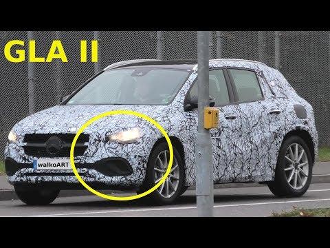 Mercedes Erlkönig GLA II 2020 (H247) Front weniger getarnt - front less camouflaged * 4K SPY VIDEO