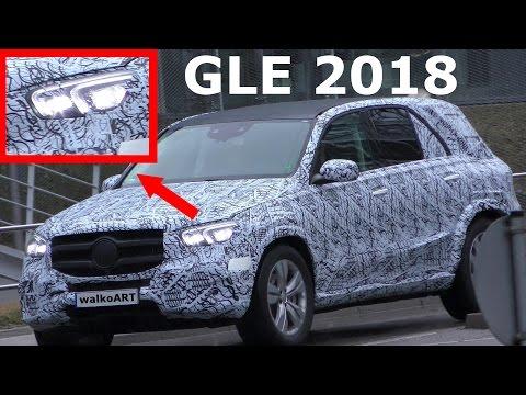 Mercedes Erlkönig GLE 2018 W167 Scheinwerfer ungetarnt! Prototype headlights undisguised! SPY VIDEO