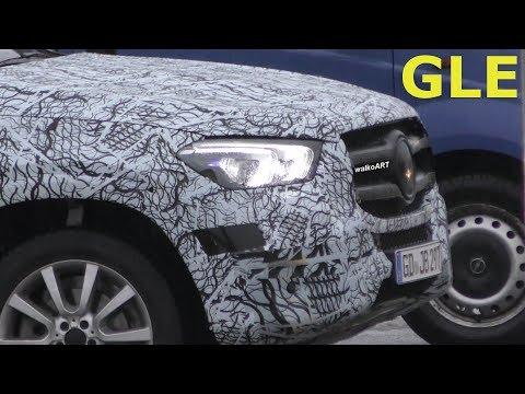 Mercedes Erlkönig GLE 2018 - Scheinwerfer - headlamp W167 - 4K SPY VIDEO