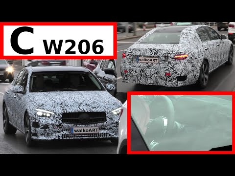 Mercedes Erlkönig C-Klasse C-Class #W206 weniger getarnt - Close up & less camouflaged 4K SPY VIDEO